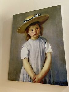 Huge-Mary-Cassatt-Art-Print-On-Canvas-Child-In-A-Straw-Hat-Print-Signed