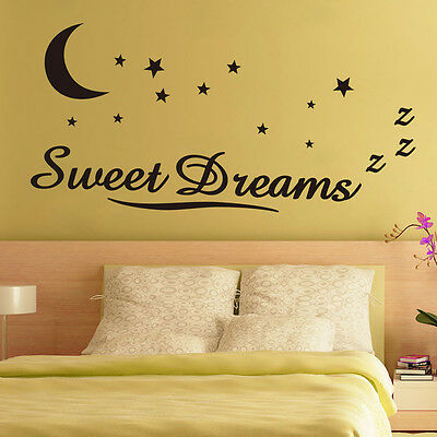 Sweet Dreams Star Wall Sticker Quote Decal Removable Sticker Decor Vinyl Art