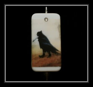 Old crow in boots poster domino pendant with matching box ebay image is loading old crow in boots poster domino pendant with aloadofball Image collections