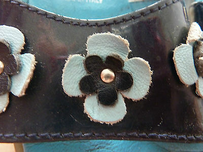 Superschöne italienische Lackleder - Sandalen ~ blau ~ Größe 25