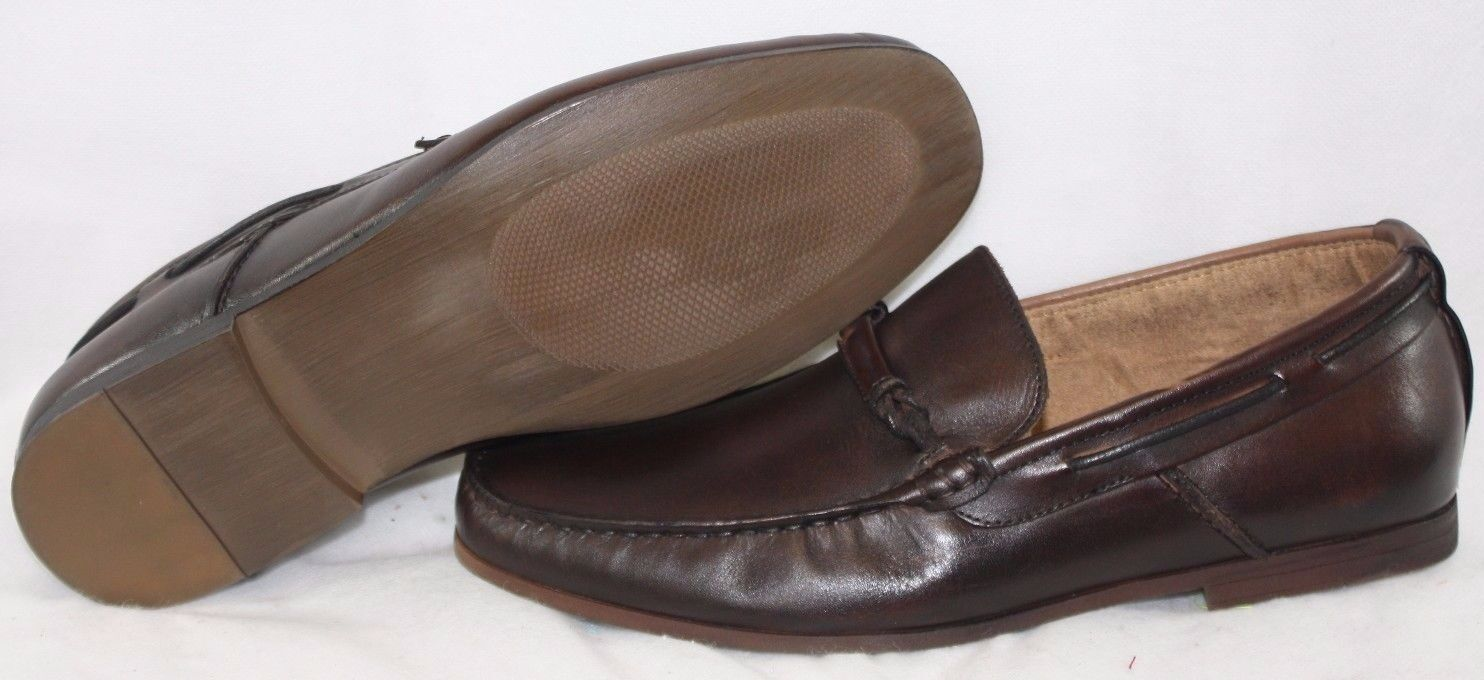 NEW  Uomo Braun KENNETH COLE Common Factor Braun Uomo Slip On Casual Dress Schuhes DISPLAY 862f4c