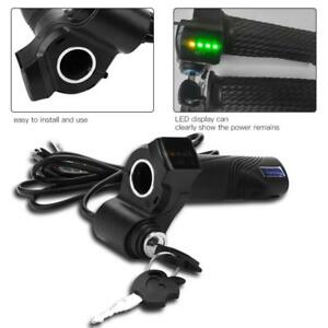 Electirc-Scooter-E-bike-Bicycle-Twist-Throttle-Handlebar-Grip-48V-LED-Display-SA