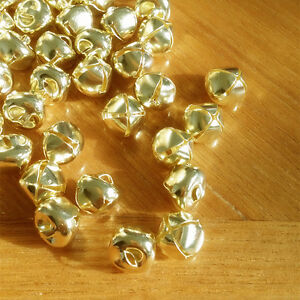 100pcs-10mm-Gold-Steel-Craft-Jingle-Bells-With-Loop-Use-as-Dangle-Charms-Kits-X