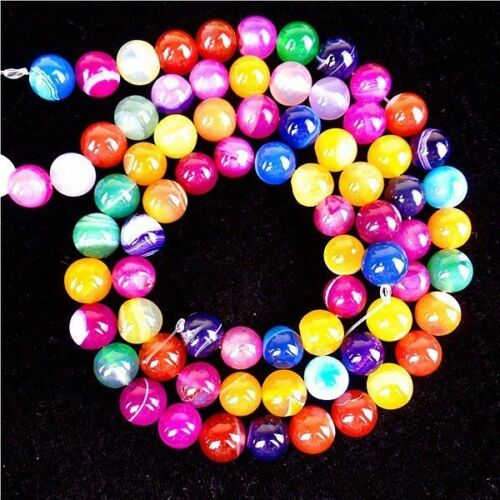 2 Strand Choix Multiples Gemme Agate Stone Round Loose Beads 10 mm HH6485