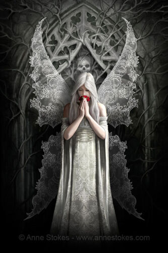 3D CULT FANTASY PICTURE 300mm x 400mm ANNE STOKES ONLY LOVE REMAINS