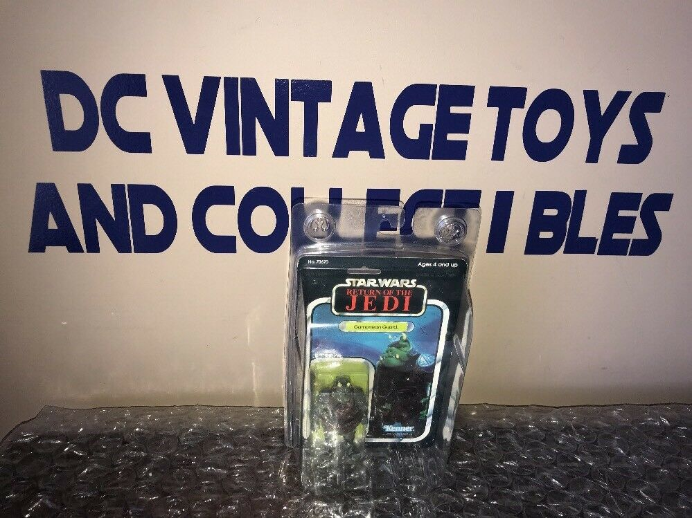 1983 KENNER STAR WARS redJ GAMORREAN GUARD MINT ON RARE CLEAR BUBBLE CARD MEXICO