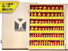 """70 Bit Router Bit Set - 1/2"""" Shank - Yonico 17702"""