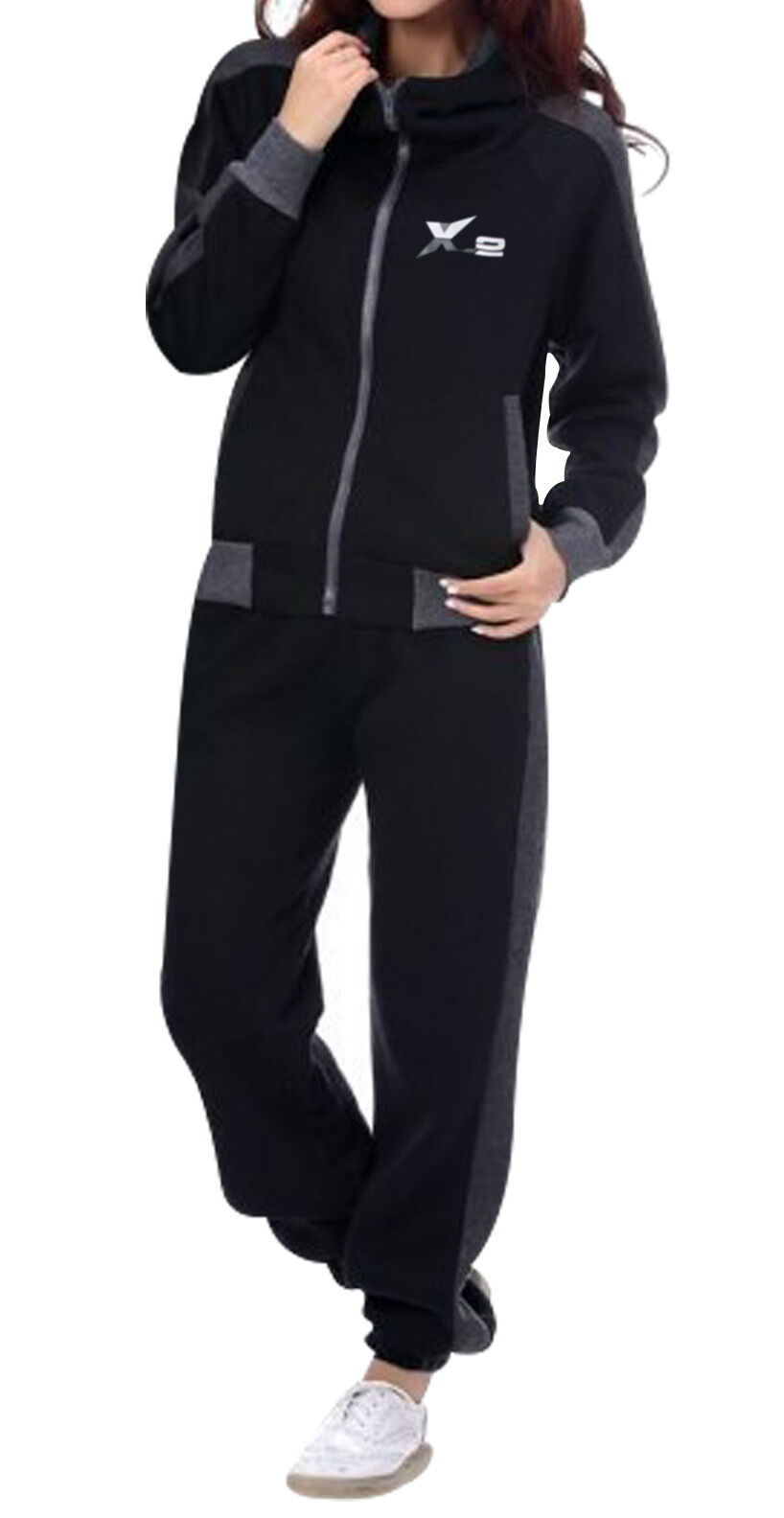 Amazon.com : Nike Womens Black 450684 Tracksuit Size M ...  |Athletic Tracksuits