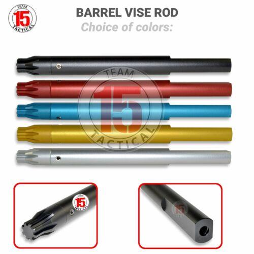 Barrel Vise Rod 963 Upper Rec Armorer Tool Gunsmith Black Red Blue Gold Silver