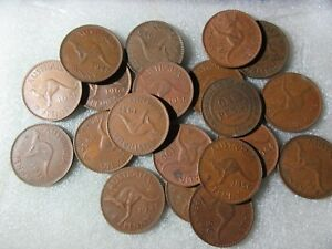 BULK-PENNIES-9-DIFFERENT-COINS-1922-1964-see-note-re-extra-lots