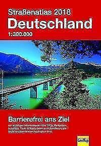 Straßenatlas Deutschland 2018 Barrierefrei 1 : 300 000  Autohöfe Raststätten