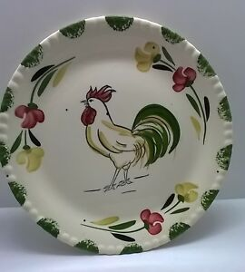 BLUE-RIDGE-9-5-INCH-ROOSTER-PLATE-SOUTHERN-POTTERIES