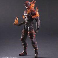 Mgs Metal Gear Solid V Phantom Pain Play Arts Kai Man On Fire Figure Video Game