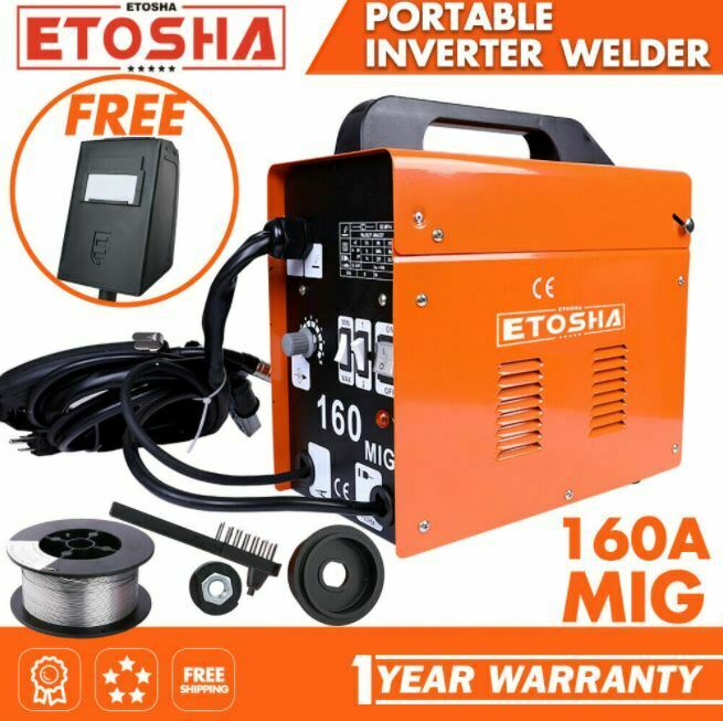 MIG 160A Welder Inverter Flux Core Wire Gasless AC ARC Metal Welding Machine. Available Now for 72.99