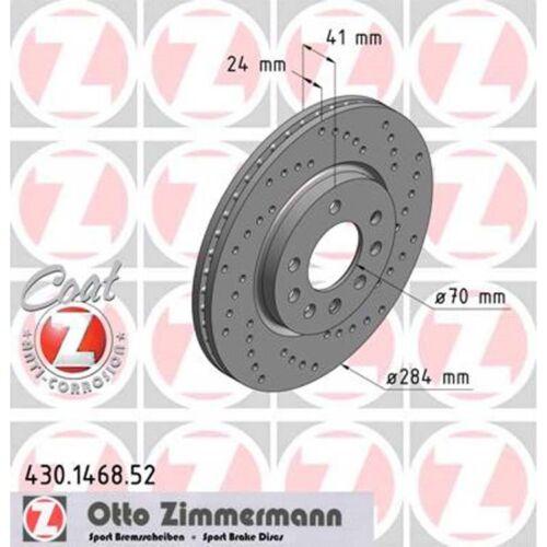 2 Sport-Bremsscheiben Opel Calibra Vectra A Saab 900 II 2,0 2,5 vorne Zimmermann