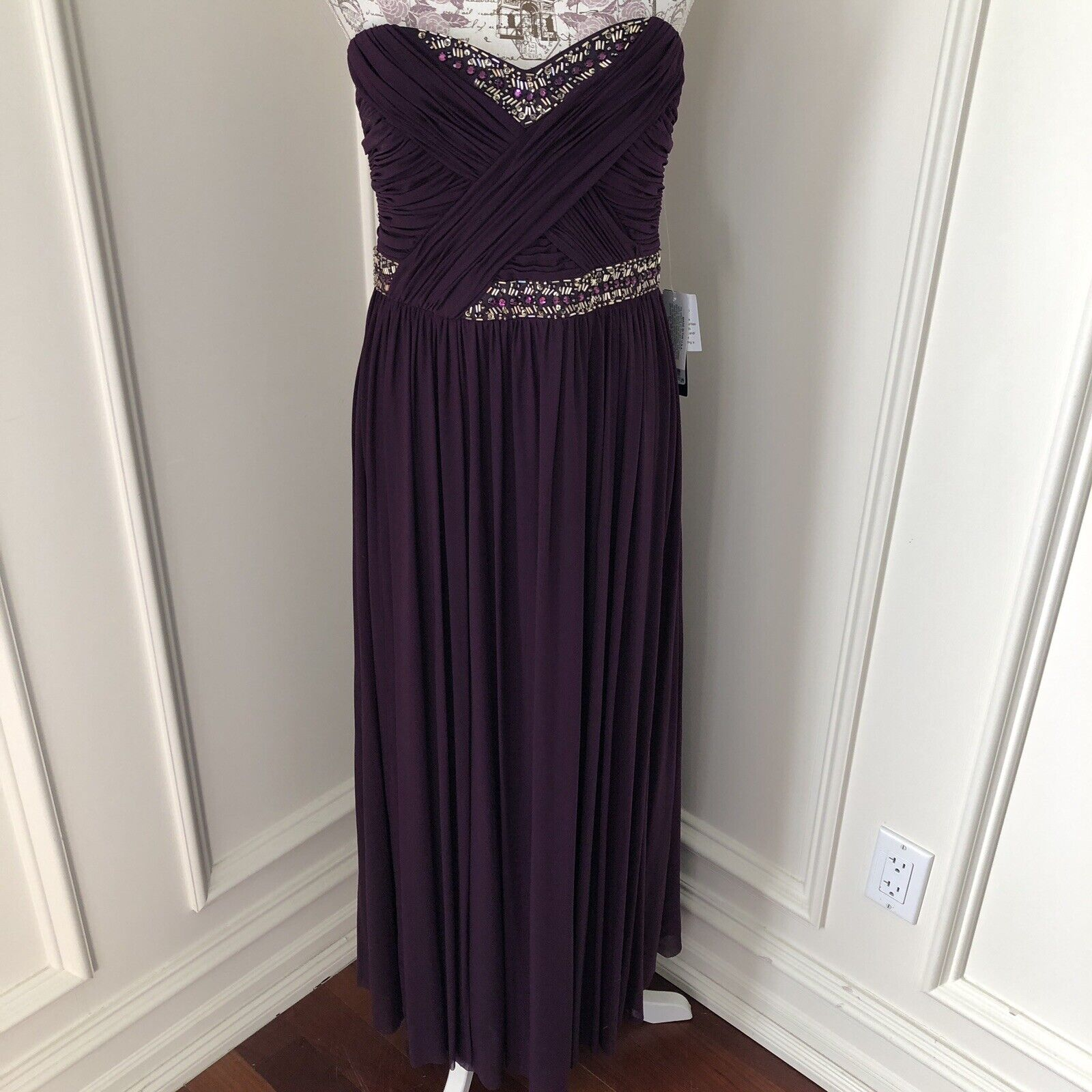 NWT Betsy And Adam Formal Gown MSRP