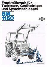 Busatis Frontmähwerk BM 1160, orig. Prospekt  1980