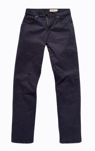 "WRANGLER Texas Elasticizzato Navy Morbido Cotone Chino Pantaloni 34 Cintura Vita 30-48 /"" /& L30 32"