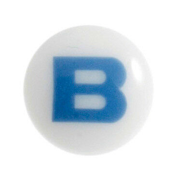 50x Baby Letter B Button 22 lignes/14mm Light Blue Sewing Craft Tool UK