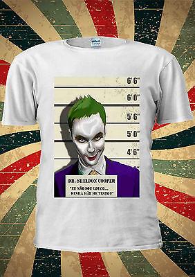 DR Sheldon Cooper vs The Joker T-shirt Vest Tank Top Men Women Unisex 2037