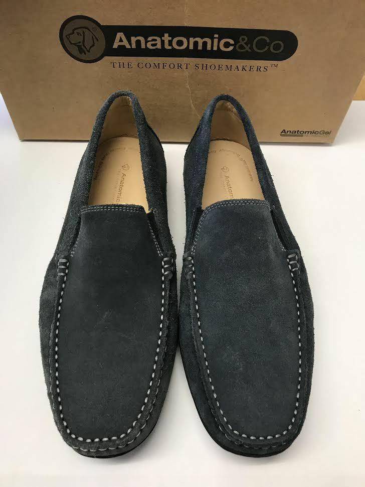 Anatomic & Co Hombre​ ​Suede​ ​Leather Slip ​zapatos On Comfort​ ​Loafers Driving​ ​zapatos Slip 98a5e6