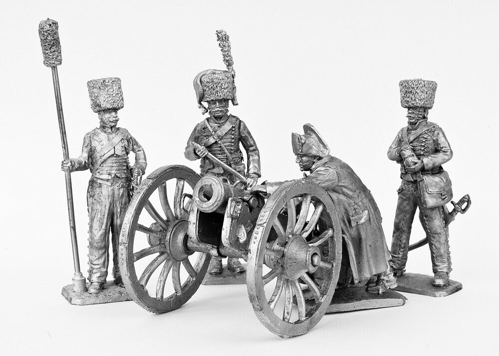 En uppsättning soldater.Beräkning av haubitsar, haubitsar, Napoleon 54 mm