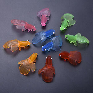 10 plastic simulation small goldfish soft rubber floating for Rubber fish toy