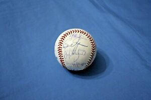 1992 Milwaukee Brewers team autographed baseball 19 sigs with Yount & Molitor