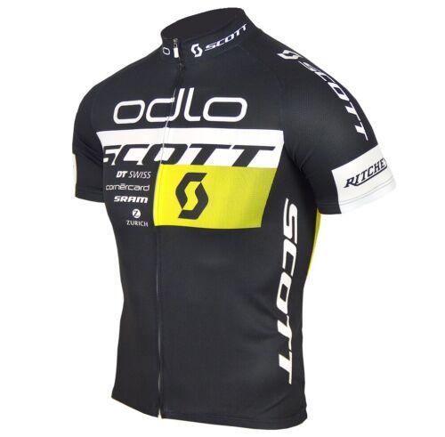 Odlo Scott radtrikot Messieurs Vélo Maillot Veste Bike Shirt MTB Vélo De Course Noir