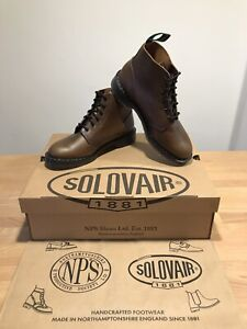 NPS SOLOVAIR Brown Gaucho 6 Eye Derby Astronaut Boot!SizeUK7.5! New!Only£149.90