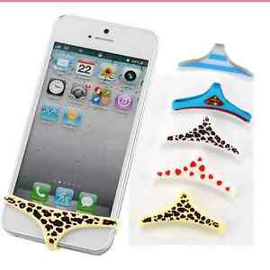 the best attitude 424e3 61b71 Details about 2 X Sexy Silicone Underwear Thong Soft Home Button Cover For  iPhone 5/4/4S FS99