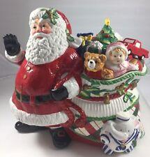 """Fitz & Floyd """"Remembering Santa"""" Cookie Jar - New in Box"""