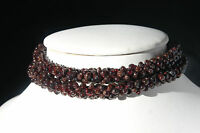 Beautiful Necklace With Garnet Gemstone 12 Inches Long ( 30 Cm. Long ) In Box
