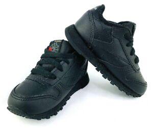 Negociar textura hacer clic  Zapatillas Reebok Classic de cuero NEGRO Bebé/Niño Calzado para Tenis Talla  4 | eBay