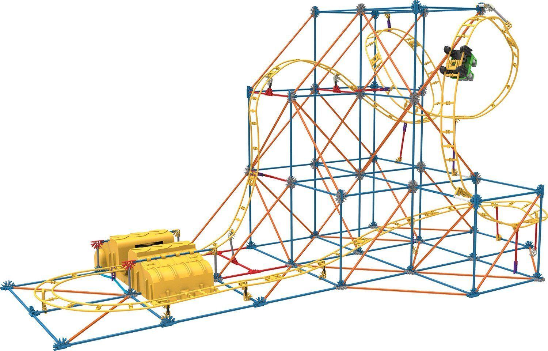 KNEX Hyperspeed Hangtime Roller Coaster Building Ages 9+ Girls Build Design Fun