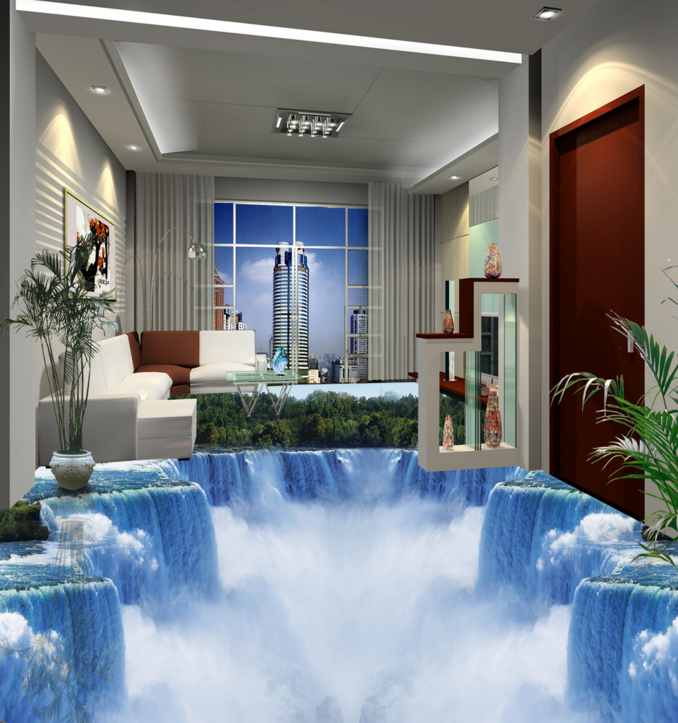 3D Waterfall Jungle 843  Floor WallPaper Murals Wall Print Decal AJ WALLPAPER US
