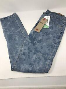 Raro Skinny Jeans Levis 510 Para Hombre Talla 28x30 Light Wash Camo Stretch Denim Ebay