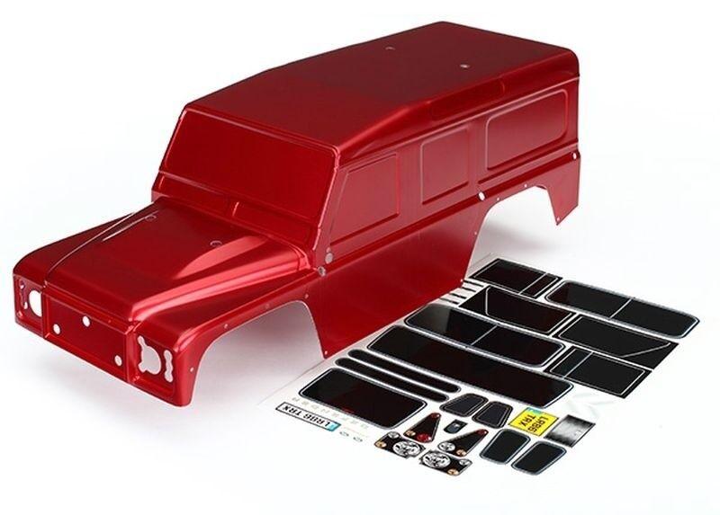 Traxxas Karo, Land Rover Defender, Rojo + Decals Traxxas trx-4