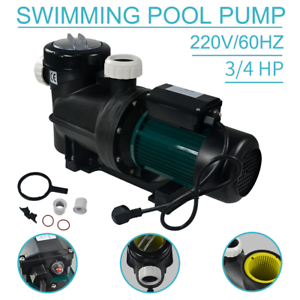 220V-0-75HP-Swimming-Pool-Pond-SPA-Circulation-Pool-Water-Pump-W-Filter-Pump