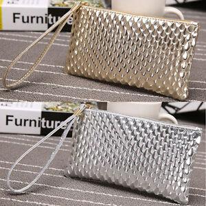 Mode-Damentasche-Taschen-Clutch-Umhaengetasche-Mini-Kurz-Handtasche-Brieftasche