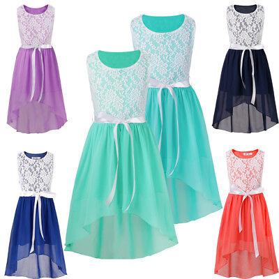 Flower Lace Dresses Elegant For Girl Infant Wedding Party 6 14 Years Ebay