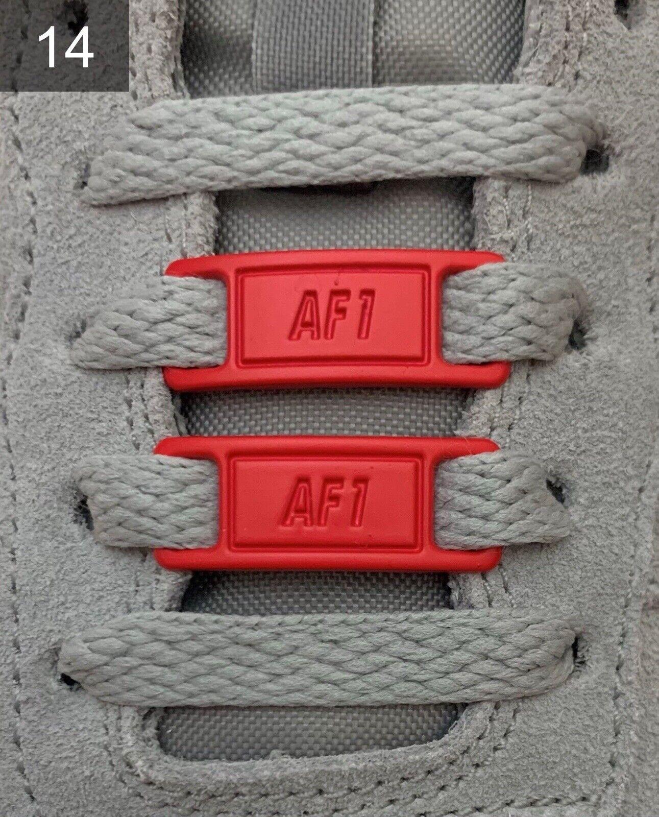 ❤ nuevas nike Air Force 1 hebillas Lace Locks Buckles metal rojo 2 unid. ✅
