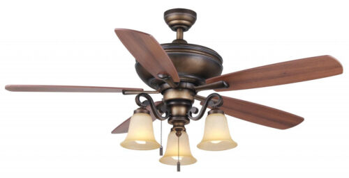 """Wind River 56/"""" Catalonia French Beige Finish Pull Chain Ceiling Fan WR1463FB"""
