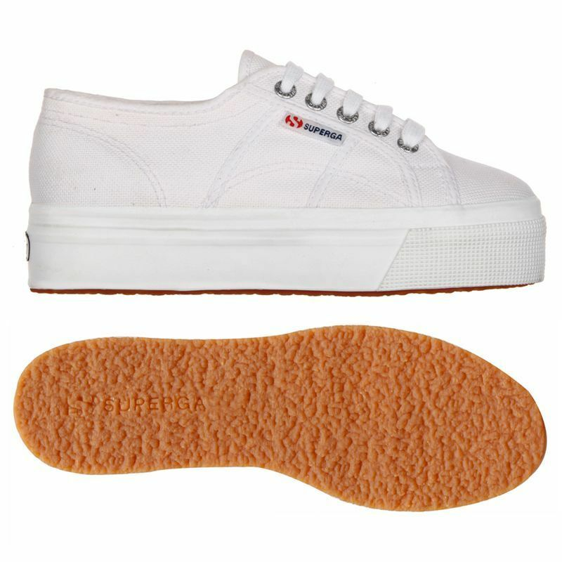 SUPERGA Schuhe Damens Damens Damens CON ZEPPA BIANCA 2790 acotw linea up and down S0001L0 Weiß a30362