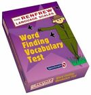 Word Finding Vocabulary Test The Renfrew Language Scales 9780863888076