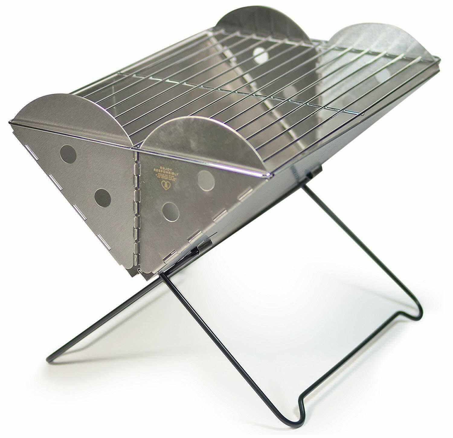 UCO Flatpack Portable Grill and Fire Pit - 5  Thick 13 x10  Regular
