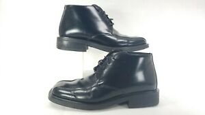 Kenneth-Cole-Reaction-Men-039-s-Black-Leather-Lace-Up-Ankle-Boots-Size-8