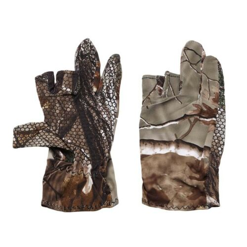 Durable 3 Finger Cut Fishing Gloves Protector Camouflage Hunting Gloves Utensil