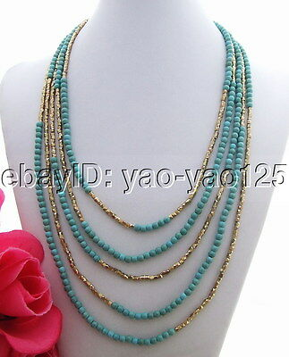 N130529 Beautiful! Green Turquoise Necklace