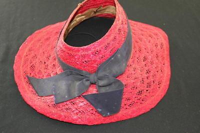 Aktiv Vintage 594ms Rot Strohhut Die Neueste Mode